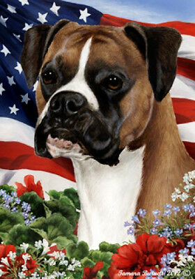 Large Indoor/Outdoor Patriotic I Flag - Uncropped Boxer (Fawn) 16125