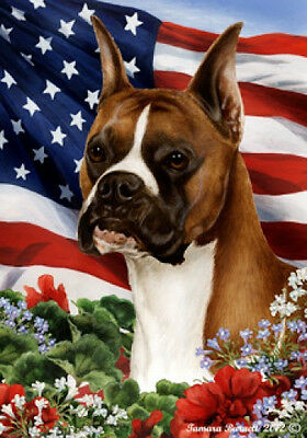 Large Indoor/Outdoor Patriotic I Flag - Boxer (Fawn) 16026
