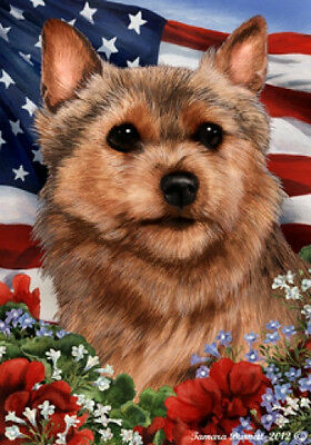 Large Indoor/Outdoor Patriotic I Flag - Norwich Terrier 16152