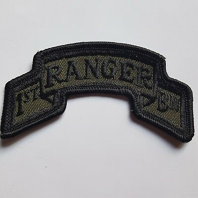 U.s. Army Aufnäher Patch 1St Ranger Battalion Oliv Subdued Tarn Original