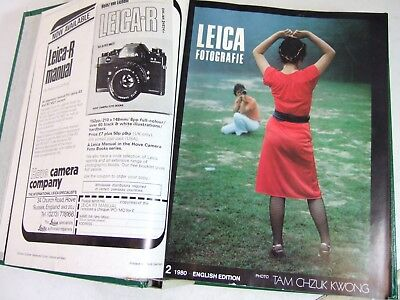 LEICA FOTOGRAFIE Magazines in Binder All 1980 + 1981 16 issues Photography Leitz