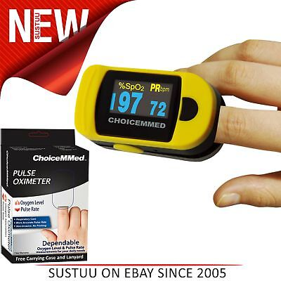 ChoiceMMed Digital Fingertip Pulse Oximeter│6 Display Mode│Battery-Low Indicator