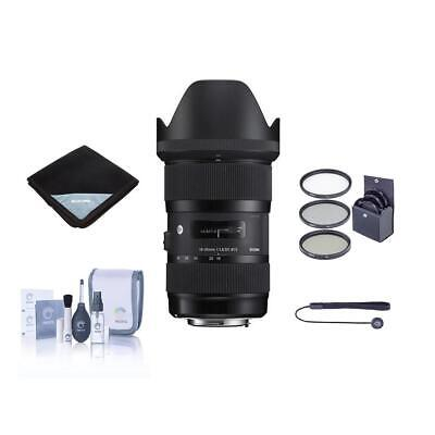Sigma 18-35mm F/1.8 DC HSM ART Lens for Canon EOS with Accessory Bundle