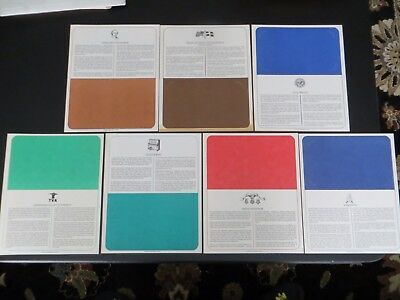 Lot of 7 First Day Cover Pages US Postal Collectibles Booklet Stamps Vintage 11