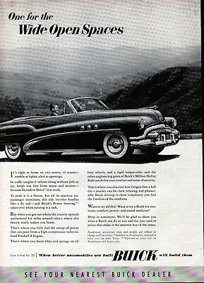 1952 Buick Car One For The Wide Open Spaces Ad