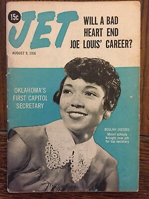 8/9/1956 Jet Magazine BAD HEART END JOE LOUIS CAREER? JOE ALLEN Beulah Jacobs
