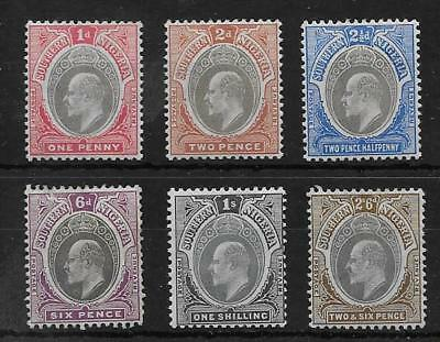 Southern Nigeria  Sel.of Mint From 1904/9 Wmk Mult Crown Ca Set  Fine Mounted