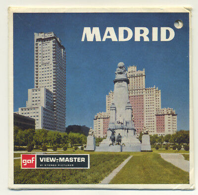 MADRID Spain Belgium-made ViewMaster Packet C-242 French edition VG