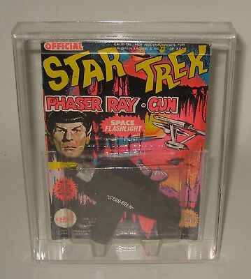 1976 Ahi Star Trek Phaser Ray Pistolet Moc Afa Graded 60 ex #bq20