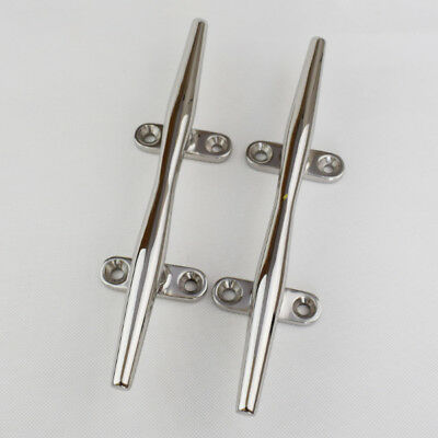 8 inch Rope Cleat Deck Stainless Steel Boat Deck Soild Open Base New Arrival