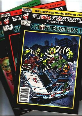Now Comics GHOSTBUSTERS 2 MINI-SERIES #1-3 & B&W proof with unpublished pages.