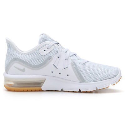 newest a46e7 3c820 NIKE Womens Nike Air Max Sequent 3 908993-101 WHITE PURE PLATINUM Womens  Size