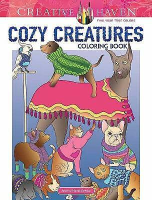 Creative Haven Cozy Creatures Coloring Book, Mazurkiewicz, Jessica