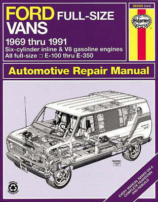 Ford full size vans haynes repair manual 6 cyl in line v8 e100 ford full size vans automotive repair manual curt choate fandeluxe Choice Image
