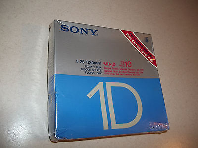 "10 SONY 5.25"" 1S 2D Single Sided Double Density Floppy Disk 5 1/4 inch MD1-D"