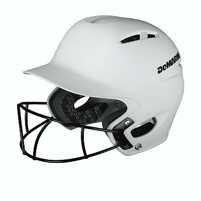 DeMarini Paradox Youth Helmet with Fastpitch Mask 6½ & Below -White WTD5423WHYH