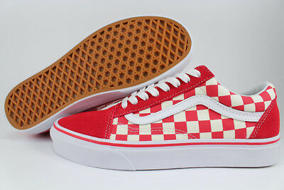 1c930775cda675 Vans Old Skool Primary Checkerboard Racing Red off White Check Skate Us Men  Size
