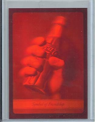 1995 Coca Cola 3-D Holographic Collector Card (Green & Red) Variations by Tiping