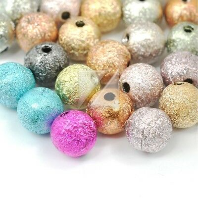 40/130pcs Acrylic Spacer Beads Round Stardust DIY Jewelry Making 8x8x8mm/6x6x6mm
