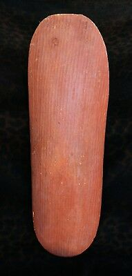 Excellent Antique Ochre Stained Australian Aboriginal Fluted Beanwood Shield 26""