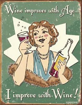 Schonberg - Wine Improved Tin Metal Sign 13 x 16in