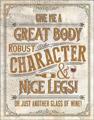Another Glass of Wine Tin Metal Sign 13 x 16in