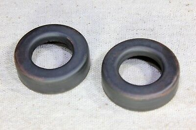 """2 Lightning rod ball end caps new replacement 1 1/4"""" brown tarnished copper"""