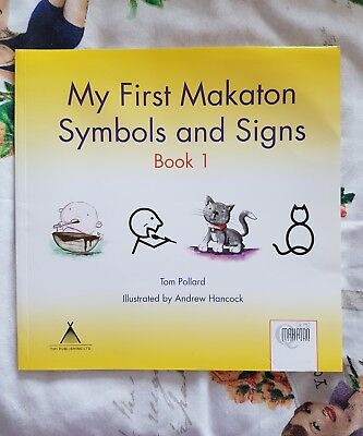 My First Makaton Symbols Signs Yellow Book 1 Free Postage Ok