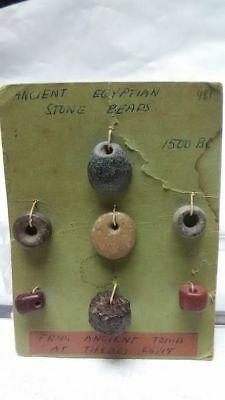 Egyptian stone beads From Thebes c 1500 BC