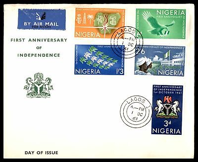 1961 First Anniversary Of Independence Combination Air Mail Fdc