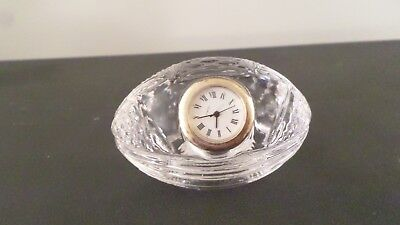 Cristal Al Plomo Lead Crystal Football Clock Paperweight