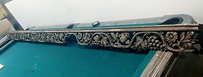 Antique French Carved Pediment MASSIVE 10FT! Wall Shelf Gothic Architectural