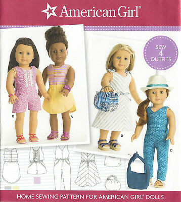 "18"" AMERICAN GIRL DOLL Modern Clothes Simplicity 8191 Sewing Pattern UNCUT"