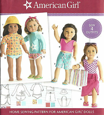 "18"" AMERICAN GIRL DOLL Clothes Bathing Suit Simplicity 8190 UNCUT Sew Pattern"