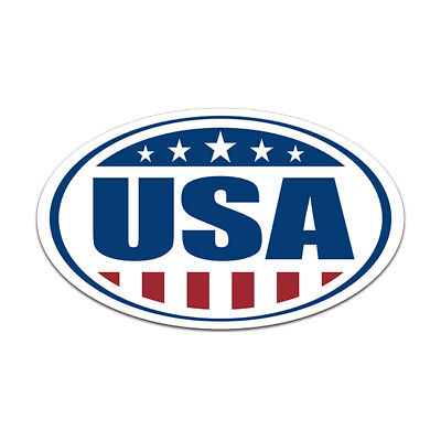 USA Oval Decal American Flag United States Old Glory Gloss Sticker HGV