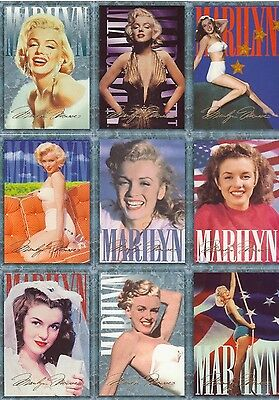 Marilyn Monroe 1993 Trading Cards, Set Of 100
