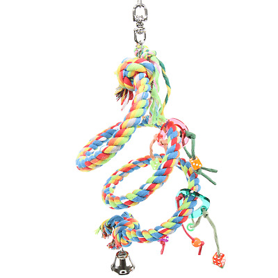 1563 MD ROPE BOING COIL SWING BIRD TOY parrot cage toys cages conure cockatiel