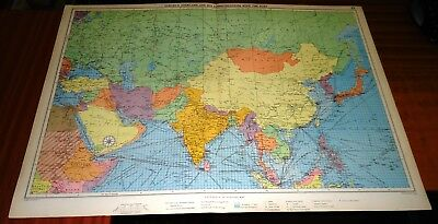 1952 Mercantile Marine Map ~ EUROPE OVERLOAD & EASTERN SHIPPING ROUTES ~ 30 x 20