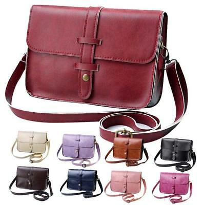 Women Vintage Purse Leather Cross Body Shoulder Messenger Bag Various Color Hot