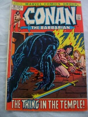 1971 No #18 Sept Marvel Comics  Conan The Barbarian-The Thing In The Temple