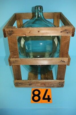 Alter  Glasballon Transparent Ca 30 Liter  Mit Transportkiste Nr 84