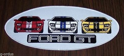 "Licensed Brand New Embroidered 2005 2006 Ford Gt Gt40 6.5"" Iron Or Sew On Patch!"