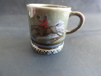 Vintage Wade Irish Porcelain Pottery Shamrock Mug Cup  Horse And Rider