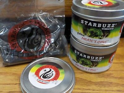 Lot of 2:  Starbuzz Hookah/Tabacco 100g / 3.5 oz total- Exotic Pirates Cave