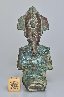 Good Provenance Large Ancient Egyptian Bronze Osiris -  New Kingdom