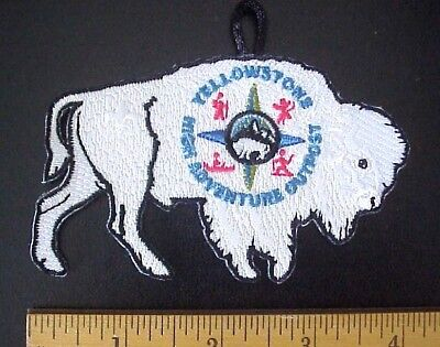 YELLOWSTONE HIGH ADVENTURE OUTPOST BUFFALO BISON SCOUTiNG SCOUT PATCH