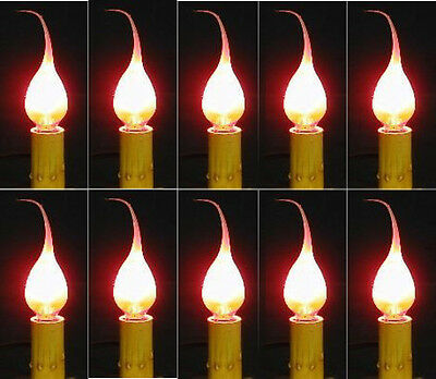LOT OF 72 Primitive Silicone Country Candle Lamp, Chandelier Light Bulbs 5 watt