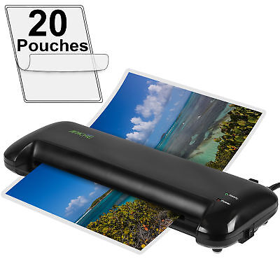 """Apache 13"""" A3 Size Black Thermal Laminator and 20 Pouches"""