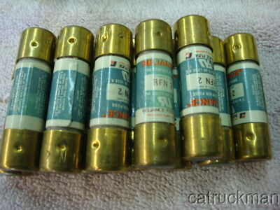 68 pcs. Reliance RFN2, 2 Amp Fuses NOS