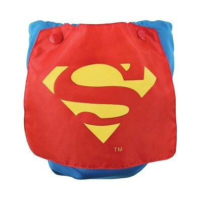 Bumkins Caped  Snap-in-One Diaper- Superman